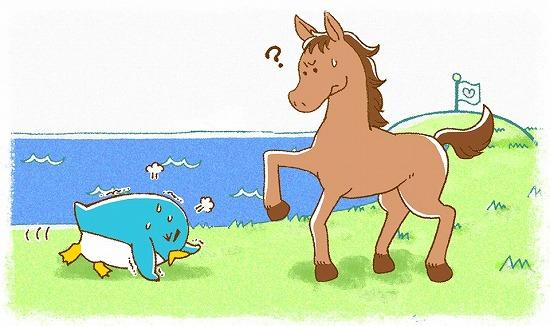 ペンギンと馬の話し4